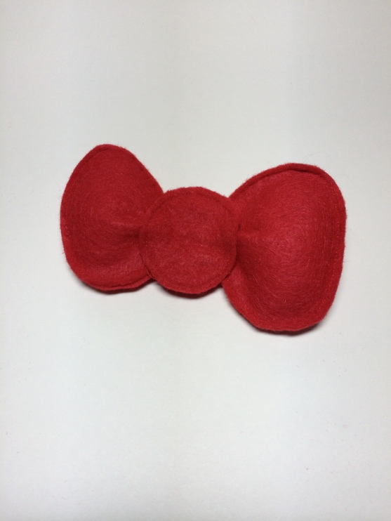 stuffed hello kitty bow