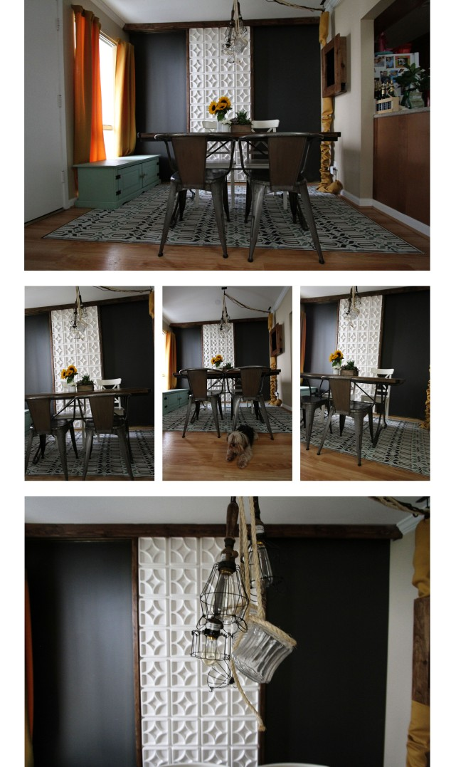 dining room room collage