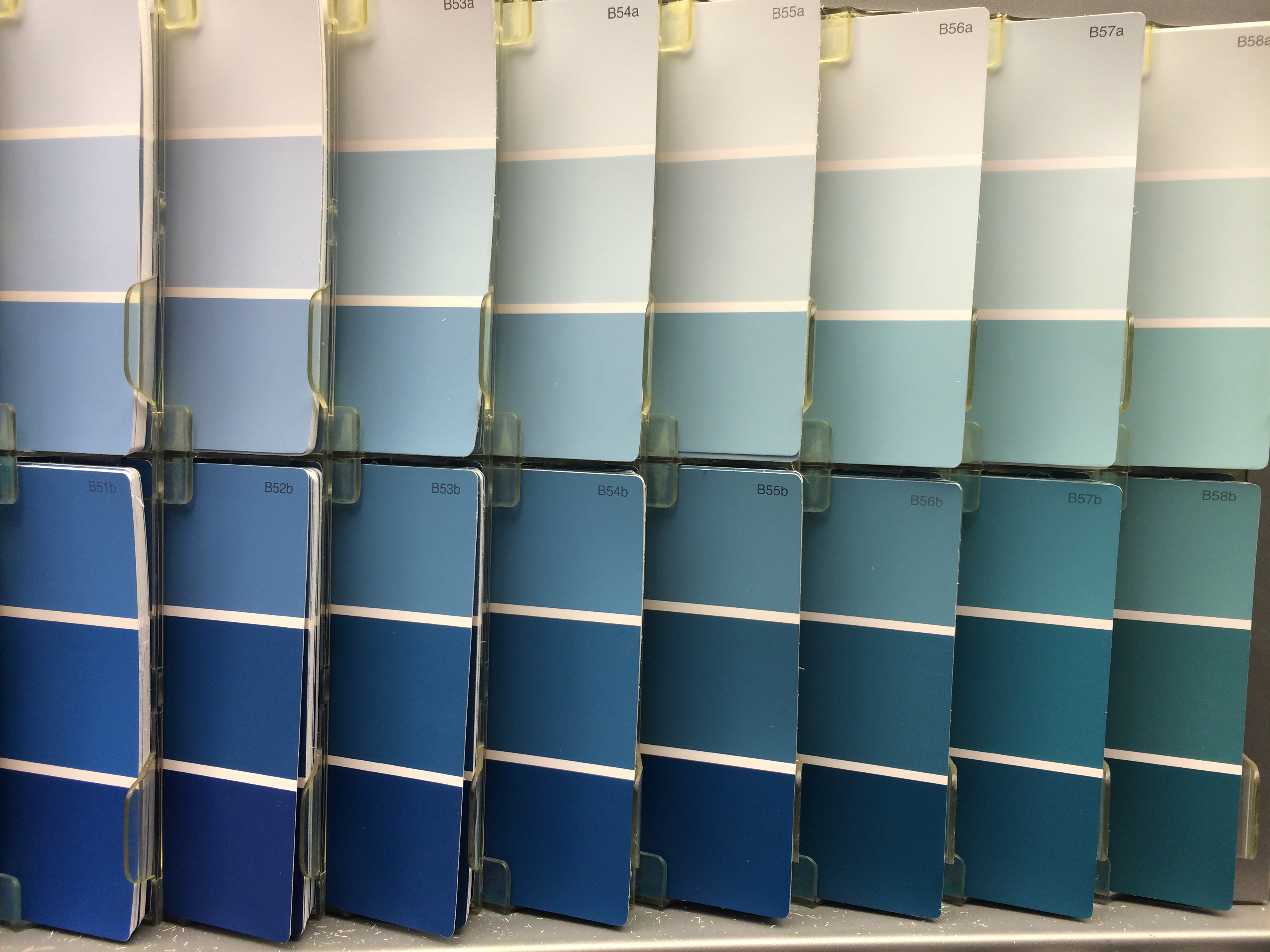 Blue paint samples - Lucky Me I Have The Most Helpful Friends Jess Came Over And Helped Me Paint